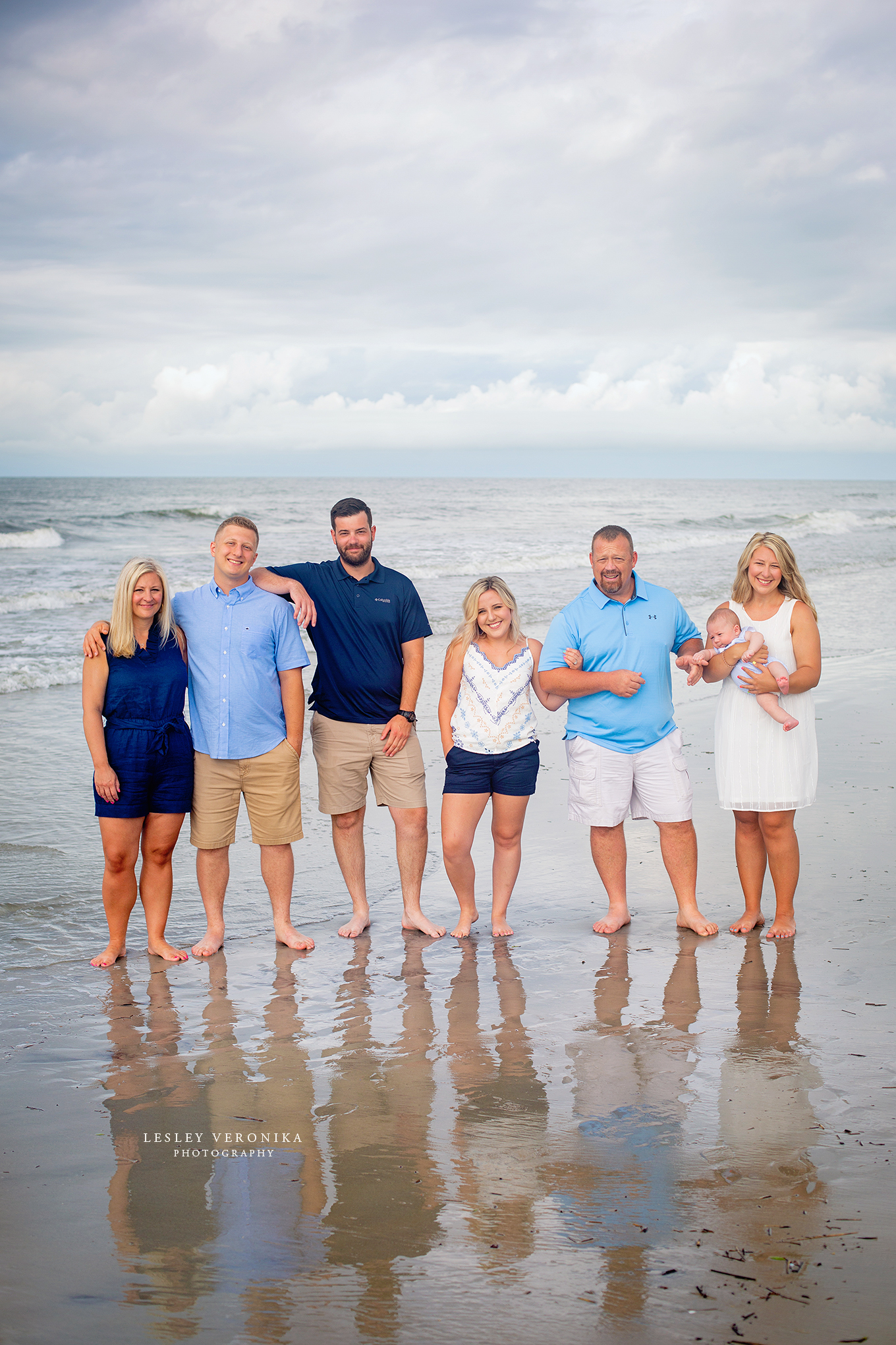 oak island family photographer, family portraits, beach session