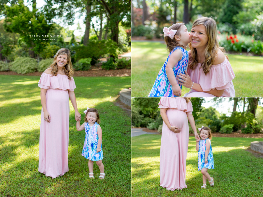 family photos, New Hanover County Arboretum, mom and daughter