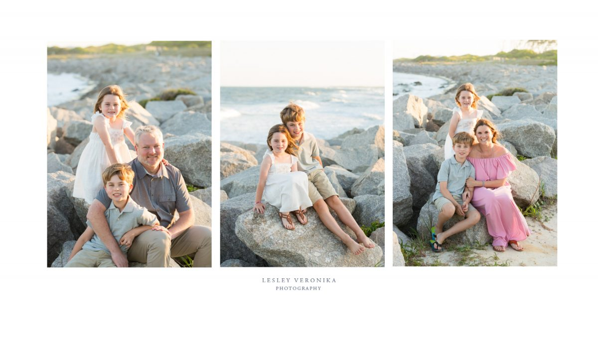 family photos, beach session, Fort Fisher NC family photographer