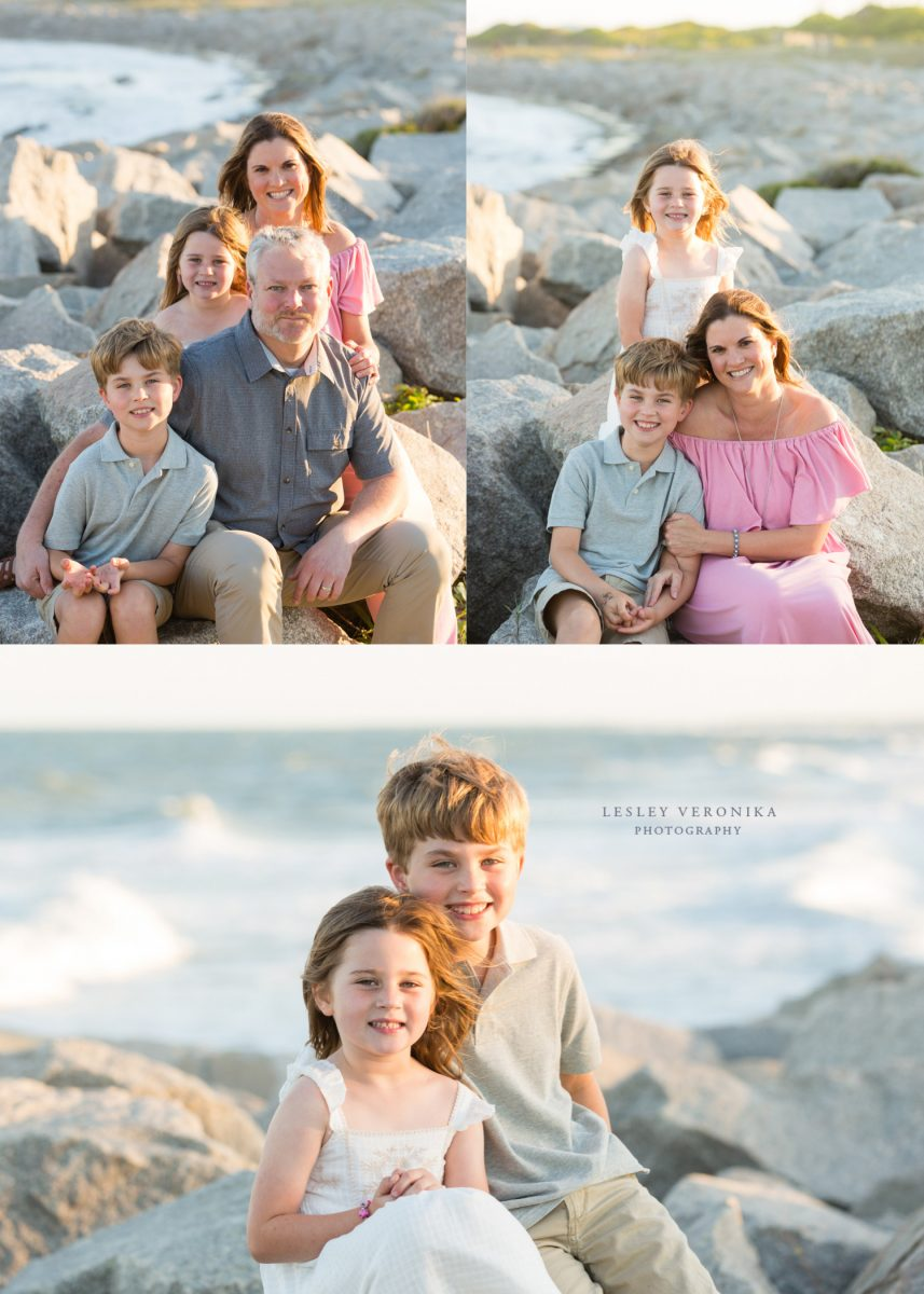 kids, sibling portraits, beach session, Fort Fisher NC family photographer