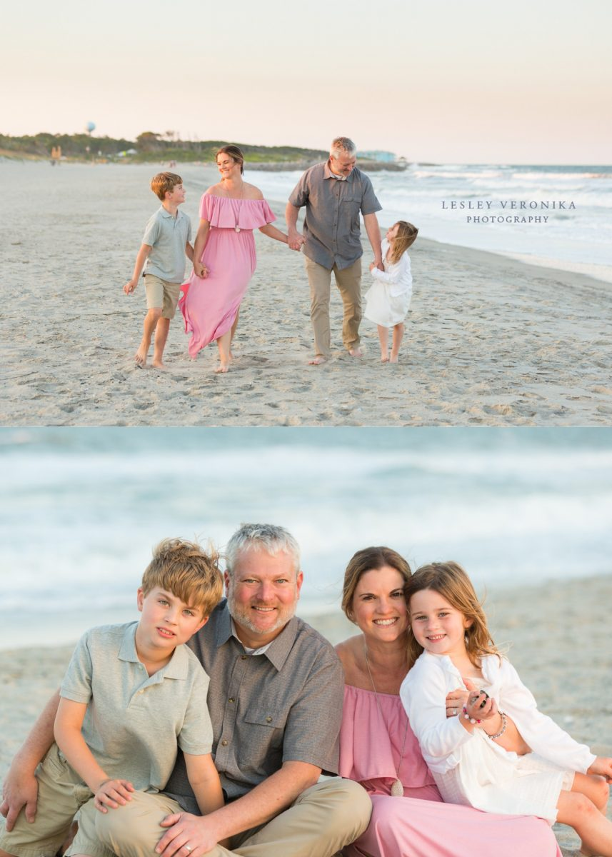 family session, beach session, Fort Fisher NC family photographer