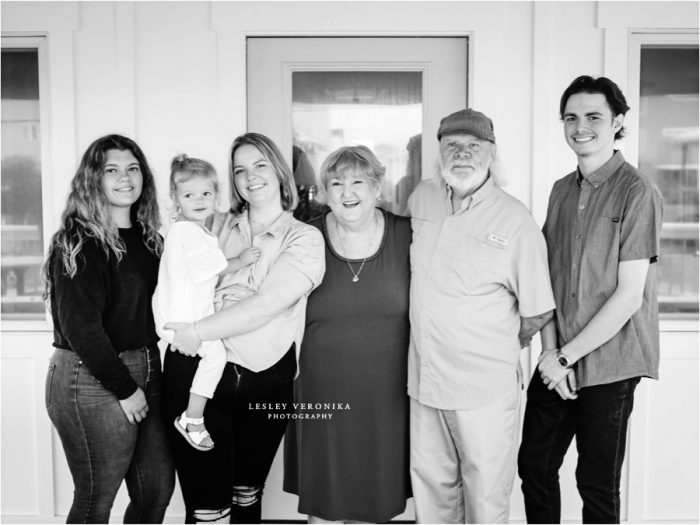 generational family session, portraits with grandparents, topsail beach nc photographer